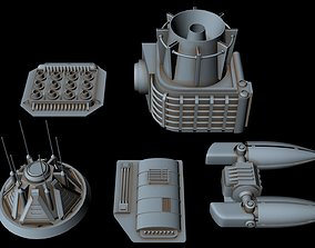 3D model Starship Greeble collection 5