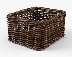 3D model Wicker Basket 06 Brown