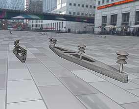 3D model Electricity Poles Insulators 9 - Object 115