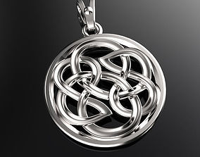 3D printable model Pendant with celtic ornament