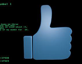 3D model Hand symbol 1