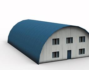 3D asset game-ready Hangar building