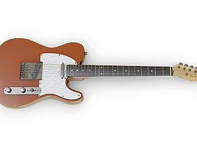 3D asset low-poly Fender Telecaster Modern style