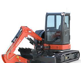 3D model Mini Excavator Hitachi ZX55U materials