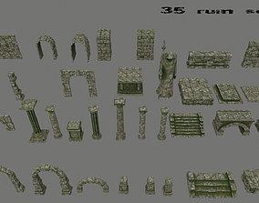 ruin set architectural 3D asset realtime