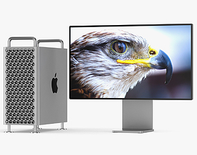 Apple Mac Pro 2019 Set 3D model