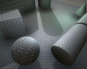 3D asset animated Cobblestone 6 - Texture Set 17