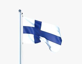 Animated Flag of Finland 3D asset