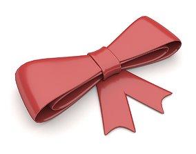 Ribbon Bow 3D asset