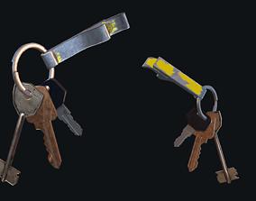 3D model VR / AR ready vault HQ PBR Keychain