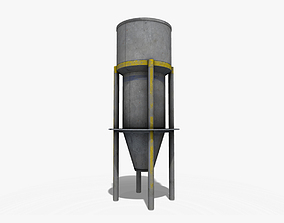 3D model low-poly Fuel Tank