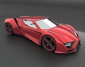 3D model Itonox futuristic racer concept