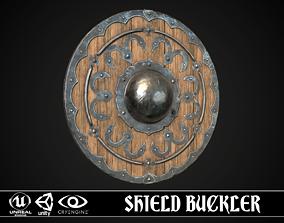 3D asset VR / AR ready Shield Buckler 02