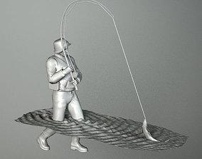 3D model FISHERMAN 2