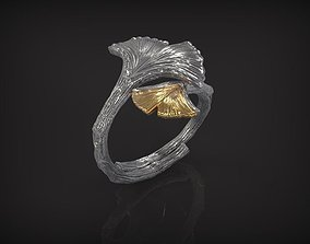 Ring Butterfly Ginkgo 3D printable model