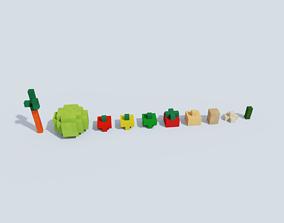 3D model Voxel Vegetables