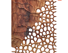 Organic wall hanging 3D