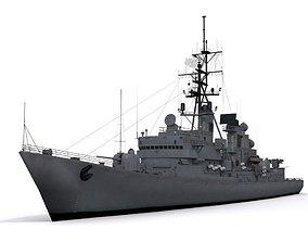 3D asset Charles F Adams-class destroyer