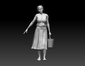 3D print model cart woman
