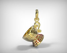 3D print model Jewelry Golden Tea Cup Shaped Pendant