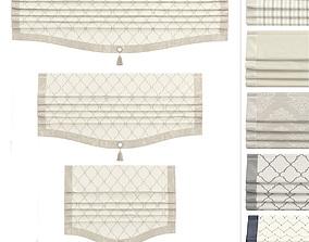 Roman Curtains Arissa 3D asset