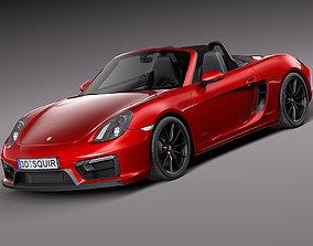 Porsche Boxster GTS 2015 fbx 3D model