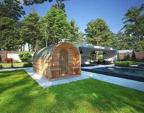 3D model Bathhouse barell 2