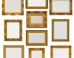 museum Collection of 3d models Frame picture gold v1
