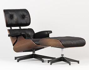 3D Eames Style Lounge Chair and Ottoman
