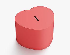 Heart coin box 3D print model