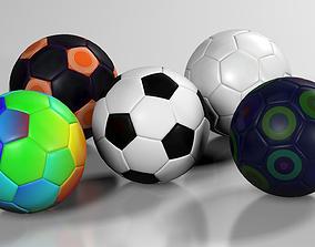 3D model A collection of Footballs - Set I