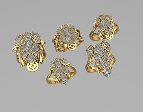 3D printable model Toad and Frog Gold rings NN082