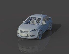 tire 3D model standard car