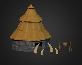 3D model Stone Age House