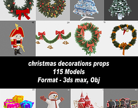 Christmas decorations props 3D model