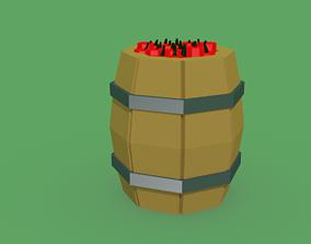 TNT Barrel 3D asset