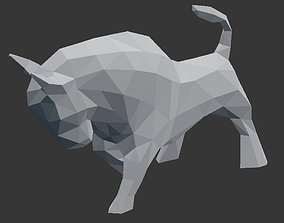 Bull Low Poly - 3D Printable low