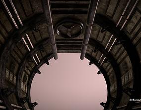 sci-fi tile-able corridor 3D model