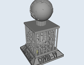 3D printable model COVID-19 Survival Trophy