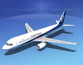 Airbus A320LP All Nippon Airways 3D asset