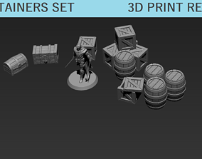 DnD Tabletop containers set 3D print model
