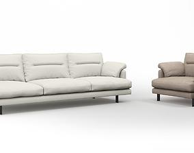 3D model Linteloo George sofa and armchair