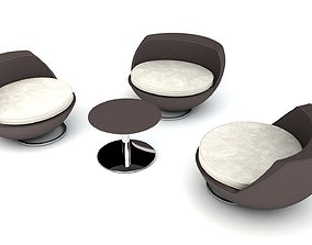 backyard Patio Furniture Set 3D model