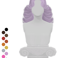 3D asset 80s Hairstyle