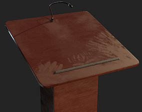 3D model Speaker Podium