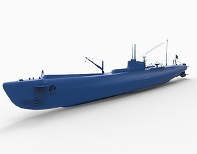 3D print model Japanese submarine I-19