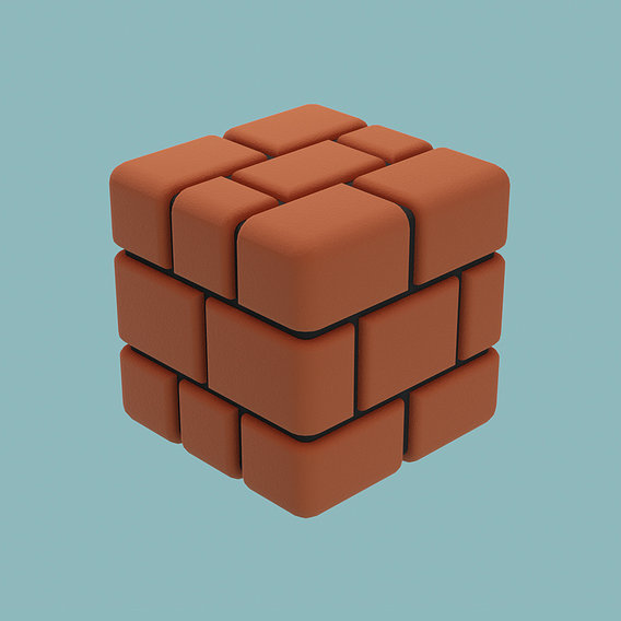 Super Mario style brick block