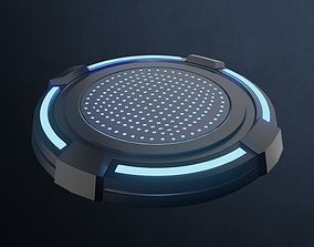 Scifi pedestal turntable 3D asset
