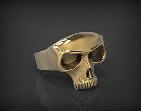 Skull Ring STL for 3d printer human