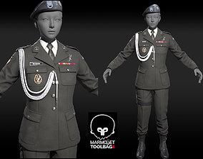 3D asset Military Officer uniform suit Game Assests 2